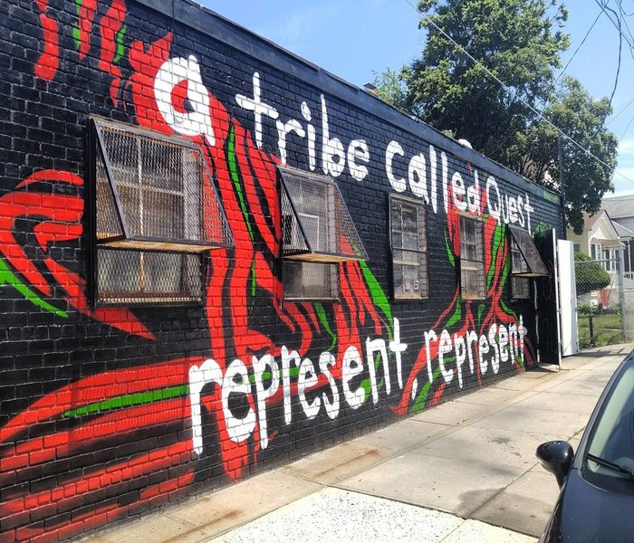 A Mural done of A tribe called quest - One of the greatest ever bands to come out the music known as Hip Hop. A Mural done within New York City from fans of the group. Done September 2016