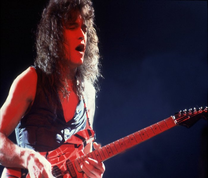 Eddie Van Halen. One of the Worlds great Rock guitarist. Putting together another great Rock/blues guitar solo.
