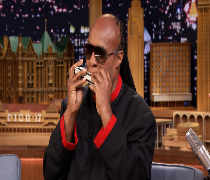 Stevie Wonder on the Harmonica within the track that is I feel for you