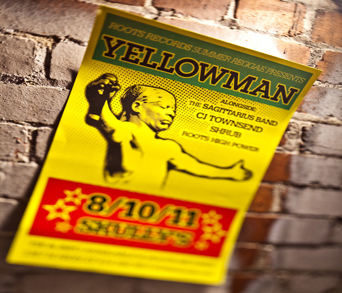Yellowman and his band Sagittarius - Playing at another venue